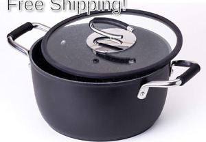 Vesuvio 5 Quart Nonstick Dutch Oven :: Nontoxic Ceramic Coated Stock Pot with...