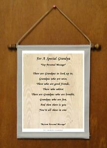 For A Special Grandpa - Personalized Wall Hanging  (1150-1)