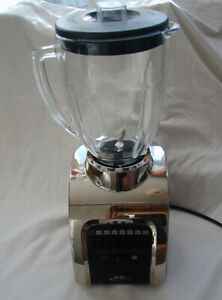 Oster Osterizer Culinary Blender 14 Speed All Metal Drive Black Stainless Glass