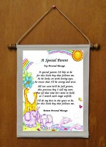 A Special Parent {of boy} - Personalized Wall Hanging (562-1b)