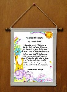 A Special Parent {of girl} - Personalized Wall Hanging (562-1g