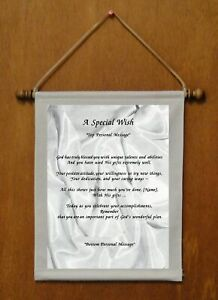 A Special Wish - Personalized Wall Hanging (106-2)