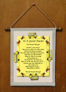 To A Special Teacher - Personalized Wall Hanging (1014-1)