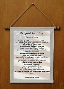 The Special Forces Prayer - Personalized Wall Hanging (556-1)