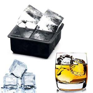 Silicone Cube Tray Ices Jelly Maker Mold Trays with Lid for Whisky Cocktail Nice $2.90