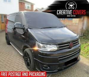 VW T5 External Blinds Cover Windscreen & Side Window Curtain Black Out Drapes.