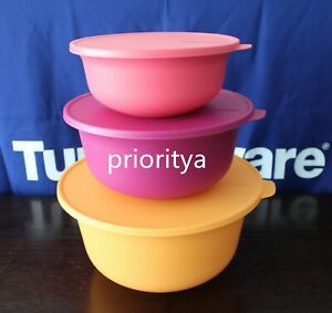 Tupperware Aloha Home Serving Bowl Set of 3 New in Package