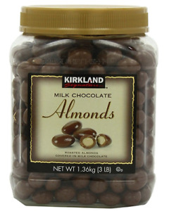 Kirkland Signature Milk Chocolate Covered Roasted Almonds 3 lbs Kosher