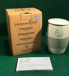 Pampered Chef Ceramic Egg Cooker #1529 New In the Box