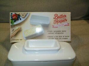 Butter Keeper Ceramic without Refrigeration,  Talisman Designs   White