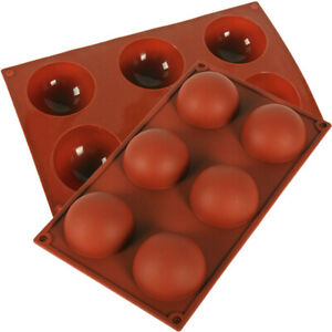 Half Ball Sphere Silicone Cake Mold Muffin Chocolate Cookie Baking Mould 6 Holes $6.99