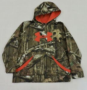 UNDER ARMOUR STORM Boys Sz Large Camo Big Logo Break Up Infinity Hoodie EXC $18.89