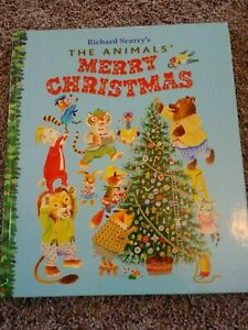 Richard Scarry The Animals' Merry Christmas Giant Golden Book 1986 Short Stories