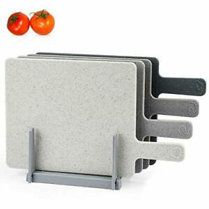 Chopping Board Set for Kitchen Holder Index Small Cutting Board Easy-Grip Handle