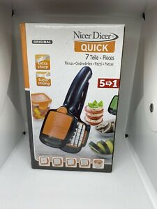 Original Nicer Dicer Quick 5 in 1 Chopping Slicing Dicing Travel Camping Food