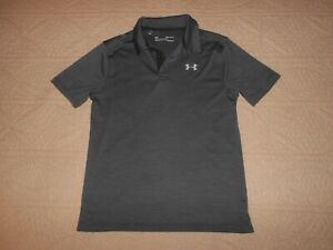 Under Armour Boy's Gray Short Sleeve Golf Shirt Youth Large 14 $12.99