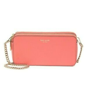 NWT kate spade margaux double zip mini crossbody peachy $148