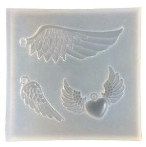 DIY Craft Jewelry Making Resin Casting Mould Silicone Pendant Mold Angel W N5Z1