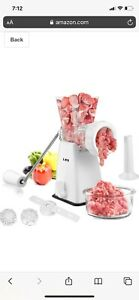 Manual Meat Grinder with Stainless Steel Blades Heavy Duty Powerful Suction Base