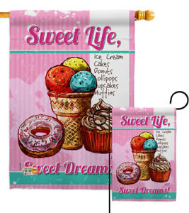Sweet Life Garden Flag Food Small Decorative Gift Yard House Banner