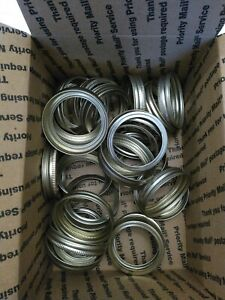 30 Mason Jar Silver Gold Canning Rings Mixed lot, Regular Mouth / Bands Only NEW