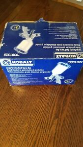 **KOBALT #0301329 LARGE GRAVITY-FEED SPRAY GUN AIR PAINT NEW IN BOX**