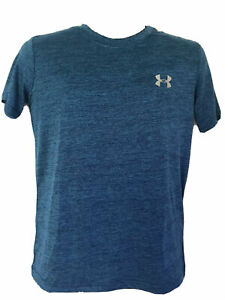 Under Armour Mens Athletic Training UA Tech 2.0 T Shirt S S NWT Blue ink $12.95
