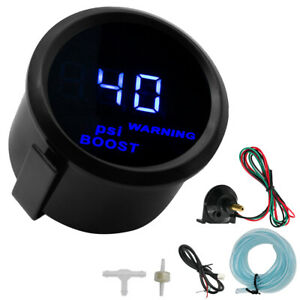 For 2 52mm Car Turbo Boost Gauge Pointer Digital LED PSI 12V Pressure Meter US