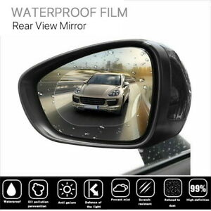 2 x Car Rearview Mirror Waterproof Membrane Anti Fog Coating Rainproof Fi