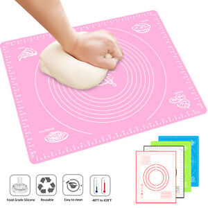 19.7*15.7in Large Silicone Non stick Baking Mat Rolling Dough Pad Pastry Fondant