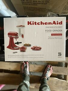 KitchenAid - Food Grinder Attachment - White - Food tray - Fine grinding plate