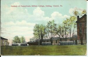 Chester Pennsylvania Military College Drilling 1910 Postcard Townsend Delaware $5.52