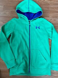 Under Armour Youth Large Green Zip Up Sweater Hoodie Boys Girls $11.99