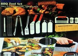 14 Pcs BBQ Grill Tool Set Stainless Steel Grilling Accessories for Cooking