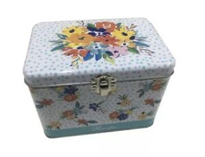 The Pioneer Woman Floral Tin Recipe Box