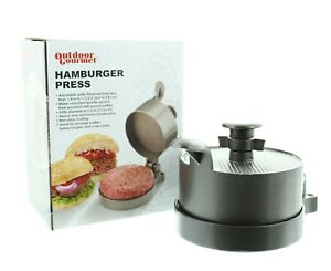Hamburger Burger Press Non Stick Aluminum, Adjustable Thickness Outdoor Gourmet