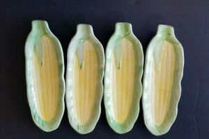 Set of 4 Corn on the Cob Dishes by B.S.F.
