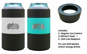 Toadfish Non-Tipping Suction Cup Can Cooler (w/ Adapter) - Double Wall Insulated