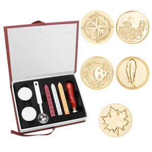 Wax Seal Stamps Wooden Handle Sealing Wax Wedding Invitation Letter Decor S1 $13.88