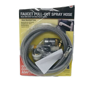 Danco Faucet Pull-Out Spray Hose 10912 Quick Connect Adapters Open Box