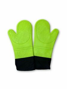 Extra Long Professional Silicone Oven Mitt Oven Mitts with Quilted Line...