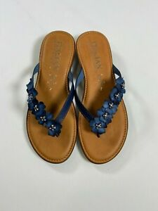Italian Shoemakers Blue Smilla Sandal Made In Italy NEW NWT $19.99
