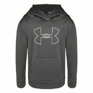 UA Under Armour Kids Youth Boy's Big Logo Hoodie Size 4, 5, 6, 7 New MSRP $40 $16.98