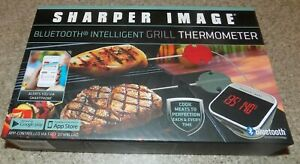 SHARPER IMAGE BLUETOOTH INTELLIGENT GRILL THERMOMETER NEW IN BOX