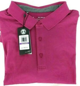 NWT Under Armour Heat Gear Polo Shirt Mens 2XL Purple Loose Fit 1319027 635 $29.95