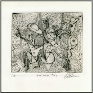 ROWDY HEARTBREAK JAZZ PLAYERS Original ETCHING Signed Limited-Edition Art Print  $24.00