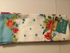 "The Pioneer Woman Kitchen Towels Spring Bouquet Set of 2 16""x 28"" New"