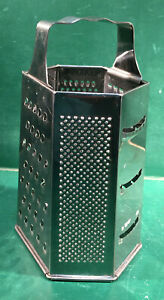 6 Sided Metal Box Grater Stainless Steel – Free Shipping