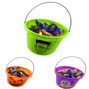 Halloween LED Light Up Trick-or-Treat Bucket - 3 Pack