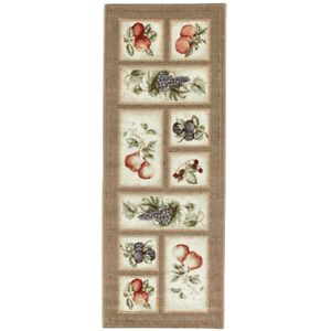 Fresh Fruit Rug 22quot; x 60quot; Runner Made in USA Olive Color Kitchen Fruits BrandNEW $40.57